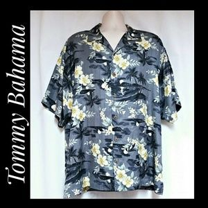 Tommy Bahama NWOT'S 100% Silk Hawaiian Shirt XL